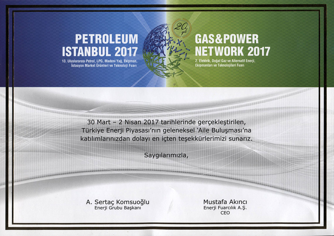 Petroleum İstanbul 2017 & Gas & Power Network 2017